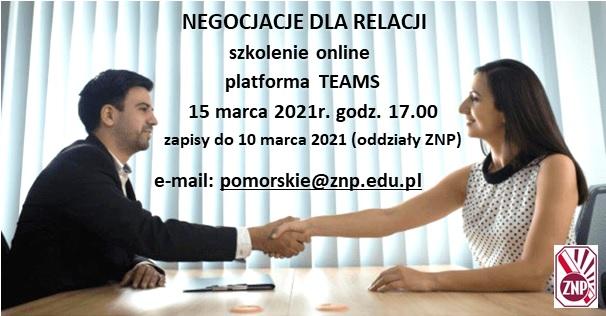 grafika - negocjacje dla relacji - szkolenie 15.03.2021